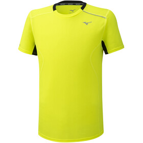 Mizuno Dry Aeroflow T-Shirt Homme, safety yellow